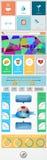 Elemento para el diseño web 3 planos Imagen de archivo libre de regalías