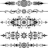 Elemento para el diseño, flor de la esquina, vector Fotos de archivo