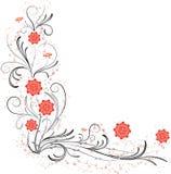 Elemento para el diseño, flor de la esquina, vector Fotos de archivo libres de regalías