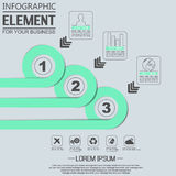 Elemento para a figura geométrica círculos de sobreposição do molde infographic da carta Imagem de Stock