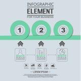 Elemento para a figura geométrica círculos de sobreposição do molde infographic da carta Fotos de Stock Royalty Free