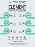 Elemento para a figura geométrica círculos de sobreposição do molde infographic da carta Imagens de Stock