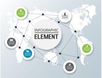 Elemento para a figura geométrica do molde infographic da carta ilustração stock