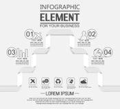 Elemento para a figura geométrica quatro opções do molde infographic simples ilustração royalty free