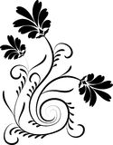 Elemento para o projeto, flor, vetor Foto de Stock Royalty Free