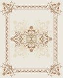 Elemento para o projeto, frame da flor, vetor Fotos de Stock Royalty Free