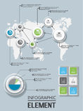 Elemento per la figura geometrica vetro del modello infographic del grafico Immagine Stock Libera da Diritti