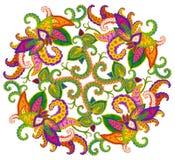 Elemento persa do tapete - Web de Spyder do céu Fotografia de Stock