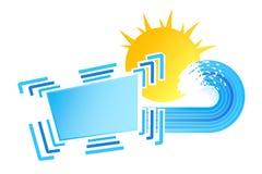 Elemento pieno di sole di disegno delle onde Immagine Stock