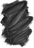 Elemento pintado negro Imagen de archivo libre de regalías