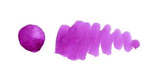 Elemento porpora di progettazione dell'acquerello Fotografia Stock Libera da Diritti