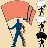 Elemento portante di bandierina Fotografia Stock Libera da Diritti