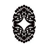 Elemento preto e branco Fotos de Stock Royalty Free
