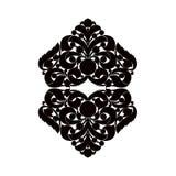 Elemento preto e branco Imagens de Stock Royalty Free
