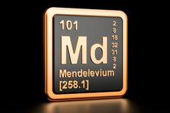 Elemento químico da DM do mendelévio rendição 3d ilustração do vetor
