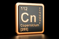 Elemento químico da NC de Copernicium rendição 3d Ilustração do Vetor