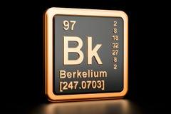 Elemento químico de Bk do berquélio rendição 3d ilustração do vetor