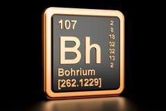 Elemento químico de Bohrium BH rendição 3d ilustração do vetor