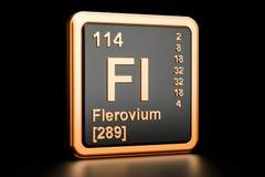 Elemento químico de Flerovium Fl rendição 3d ilustração stock