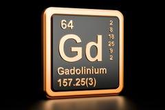 Elemento químico de Gd do gadolínio rendição 3d ilustração stock