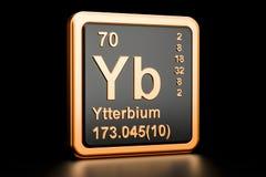 Elemento químico de Yb do Ytterbium rendição 3d Ilustração Stock
