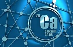 Elemento químico del calcio stock de ilustración