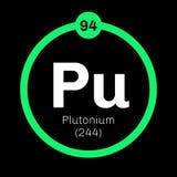 Elemento químico del plutonio Imágenes de archivo libres de regalías