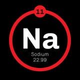 Elemento químico del sodio Foto de archivo