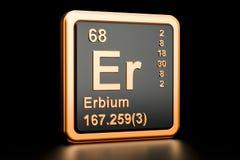 Elemento químico do érbio Er rendição 3d ilustração royalty free