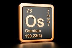 Elemento químico do ósmio do ósmio rendição 3d Ilustração do Vetor