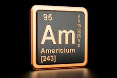 Elemento químico do Am do amerício rendição 3d ilustração do vetor
