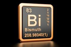 Elemento químico do Bi do bismuto rendição 3d ilustração royalty free