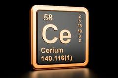 Elemento químico do Ce do cério rendição 3d ilustração royalty free