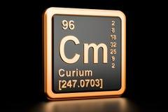 Elemento químico do Cm do cúrio rendição 3d ilustração royalty free
