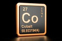 Elemento químico do Co do cobalto rendição 3d ilustração do vetor