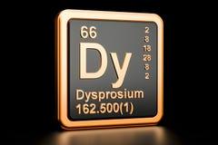 Elemento químico do Dy do Dysprosium rendição 3d Ilustração do Vetor