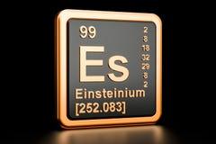 Elemento químico do Es do einsteinio rendição 3d ilustração stock