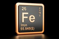 Elemento químico do Fe do ferro de Ferrum rendição 3d Ilustração do Vetor