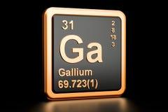 Elemento químico do gálio GA rendição 3d Ilustração do Vetor