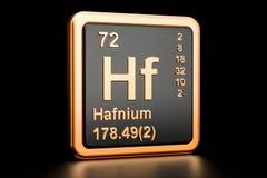 Elemento químico do Hf do háfnio rendição 3d Ilustração Royalty Free