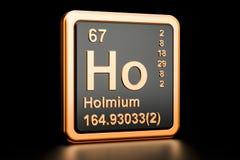 Elemento químico do Holmium Ho rendição 3d ilustração royalty free