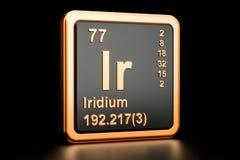 Elemento químico do Ir do irídio rendição 3d ilustração stock