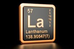 Elemento químico do La do lantânio rendição 3d ilustração stock
