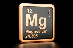 Elemento químico do magnésio do magnésio rendição 3d Ilustração do Vetor
