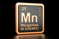 Elemento químico do manganês do manganês rendição 3d Ilustração Royalty Free