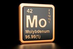 Elemento químico do Mo do molibdênio rendição 3d ilustração stock