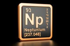 Elemento químico do NP do netúnio rendição 3d ilustração stock