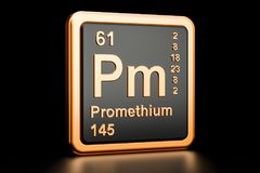 Elemento químico do Pm do Promethium rendição 3d Ilustração Royalty Free