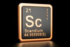 Elemento químico do Sc do escândio rendição 3d Ilustração do Vetor