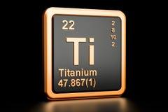 Elemento químico do si Titanium rendição 3d ilustração do vetor